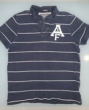 Abercrombie & Fitch para Hombre Camisa Polo, azul/blanco de rayas, Medio-am uscle Fit'