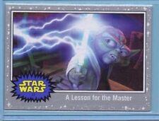 2017 Topps The Last Jedi Card A Lesson for the Master Silver Starfield INV109