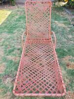 Vintage MCM Brown Jordan Chaise Lounge Set