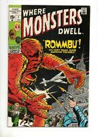 Where Monsters Dwell #7 VF+ 8.5 Marvel 1971! KIRBY & DITKO PRE-HERO STORIES! 1