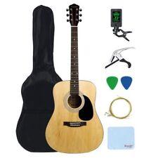Beginners Acoustic Guitar w/Guitar Bag, Tuner, Capo & Pick Steel Strings-Natrual