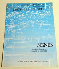 Partition vintage sheet music MAXIME LE FORESTIER : Signes * 90's