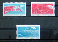 Satz DDR Mi.-Nr. 822 bis 824, Erster bemannter Weltraumflug, postfrisch
