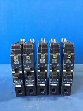 5 Square D Edb14020 20A Single Pole 480Volt Circuit Breaker