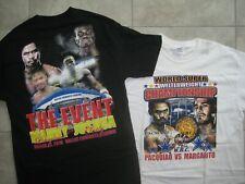 2 - 2010 MANNY PACQUIAO Clottey Margarito Boxing Boxer Filipino Rap Shirt USED L