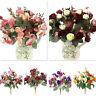 21 Head 1 Bouquet Artifical Plastic Silk Rose Wedding Home Xmas Silk Flower New
