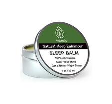 Sleep Balm Help Aid Sleeping Insomnia, All Natural Calming temple rub, relax 1oz