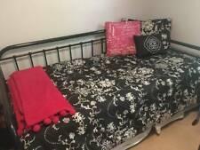 Girls Teens Black White Floral Bedding Duvet Comforter Quilt Twin Bed Set French