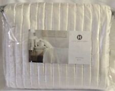 $420 New Hotel Collection Plume King Coverlet White fresco Ivory Quilt macys