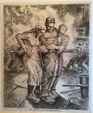 Franz Kienmayer, Kameradschaft, 50x41cm, Zeichnung,signiert und bezeichnet