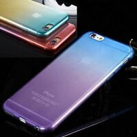 Ombre Colorful Silicone/Gel/TPU Soft Clear Case Cover For iPhone SE 5S 6 6S Plus