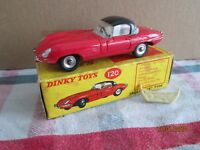 DINKY TOYS 120 JAGUAR E TYPE  WITH ROOF AND RARE FOLDED HOOD  BOXED
