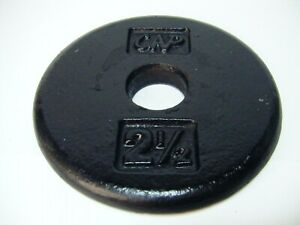 """CAP 2 1/2lb (2.5Lbs) 4 3/4""""dia 1"""" hole Barbell Plate/Weight"""