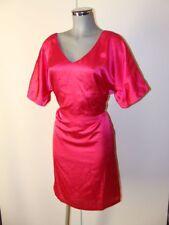 Chices Satin Glanz Kleid Größe 40 Pink glänzend im Rücken zum knöpfen V64