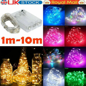 20/30/50/100 LED Battery Micro Rice Wire Copper Fairy String Lights Party Xmas