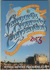 FAIRPORT CONVENTION CROPREDY FESTIVAL 2013 programme ALICE COOPER LEVELLERS 10CC