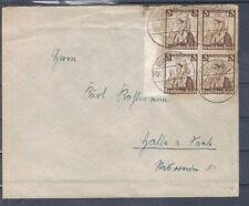 Deutsches Reich 1936 Rand margine MEF Schleusingen Halle MiNr. 588 ex 588-597