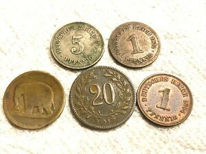 WORLD COIN BLOWOUT: Lot of 5 Antique Germany Coins 1892-1917 Wow!  COBM-342