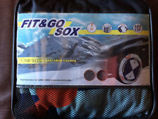 TWO FIX&GO FIT AND GO TEXTILE TEX CAR SNOW SOCKS SIZE 'F'