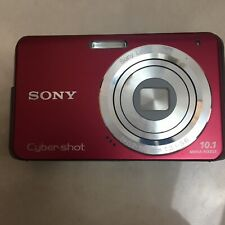 Sony Cyber-Shot Camera Two Batteries Cord Battery Charger Carrying Case