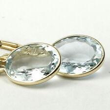 Aquamarine, 14KY Gold Leverbacks, E101