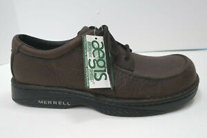 MERRELL WORLD FORUM 11.5 Casual Lace-up Comfort Oxford Shoes Leaf Brown NEW