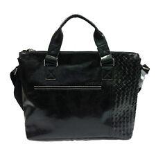 JUVENTUS borsa tracolla da donna in eco-pelle nera con decorazione a intreccio