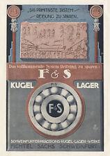 Fichtel & Sachs Kugellager Schweinfurt Ägypten Plakat Braunbeck Motor A3 310