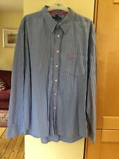Aeropostale Men's Shirt Size XL Slim Fit Blue White Pink Black Stripe Cotton