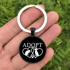 Adopt A Pet Dome Keyring Glass Cabochon Keychain Purse/Bag Charm