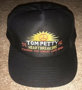Vintage 91-92 Tour Tom Petty and the Heartbreakers Great Wide Open Hat Snapback