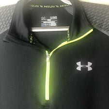 Under Armour Fitted Coldgear Long Sleeve Reflective Running Shirt Mens Size Xl