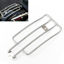 1PC Chrome Motorcycle Scooter ATV Solo Seat Rear Fender Luggage Rack Metal Steel