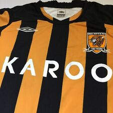 UMBRO XL Football Jersey 'Hull City A.F.C. The Tigers' Karoo Spellout Retro