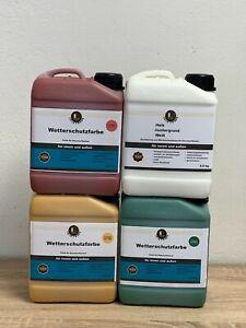 Wetterschutzfarbe Holzschutzfarbe riesige Farbauswahl nach RAL (ab 8,70 €/kg)