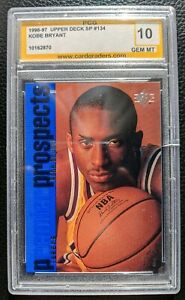 1996 UPPER DECK SP #134 KOBE BRYANT ROOKIE CARD RC LOS ANGELES LAKERS PCG 10 GEM