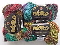 NORO Silk Garden #275 Silk Mohair Wool Yarn Teals-Brown-Lime-Purple-Orange