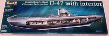 Revell Germany WWII Submarine U-Boat U-47 w/interior Gunther Prien model 1/125