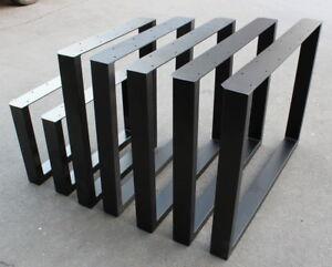 ein Paar schwarz Tischgestell Tischuntergestell Tischkufe 60 x 72cm Tisch Kufen