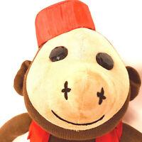 Vintage Primitive Folk Art Sock Monkey Fez Doll