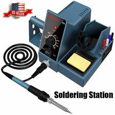 Soldering Station Solder Iron Kit Temperature Adjustable Rapid Heating Us