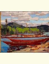 Bateaux, Tom Thomson. Blank Journal : 150 Blank Pages, 8,5x11 Inch (21. 59 X...