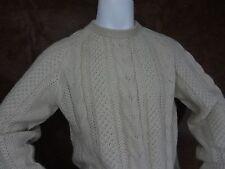 100% Alpaca Wool Natural Hand Knit Sweater Mens XL John Kramon & Co Marin Ca