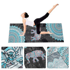 Non Slip Yoga Mat Towel Fitness Sports Printed Blanket Carpet 72x25''