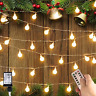 100 LED Warm White Globe String Lights Indoor Outdoor Decor Gardens 36ft/11m NEW