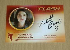 2017 Cryptozoic FLASH sea 2 autograph Violett Beane as JESSE WELLS heart VB