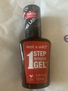 Wet 'n Wild Megalast 1 Step Wonder Gel Nail Polish 724A Crime of Passion A113
