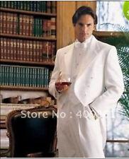 White Men's Wedding Suits Best Man Suit Groom Tuxedos (Jacket+Pants+Vest+Tie)