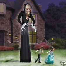HALLOWEEN 12 FT  GRIM REAPER GHOUL AIRBLOWN INFLATABLE MONSTER YARD DECOR