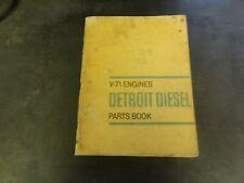 Detroit Diesel V-71 Engines Parts Book Manual